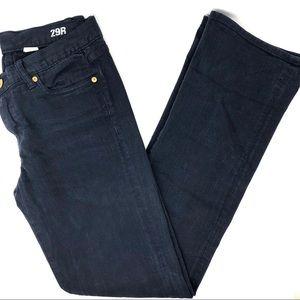 J. Crew Black Bootcut Jeans